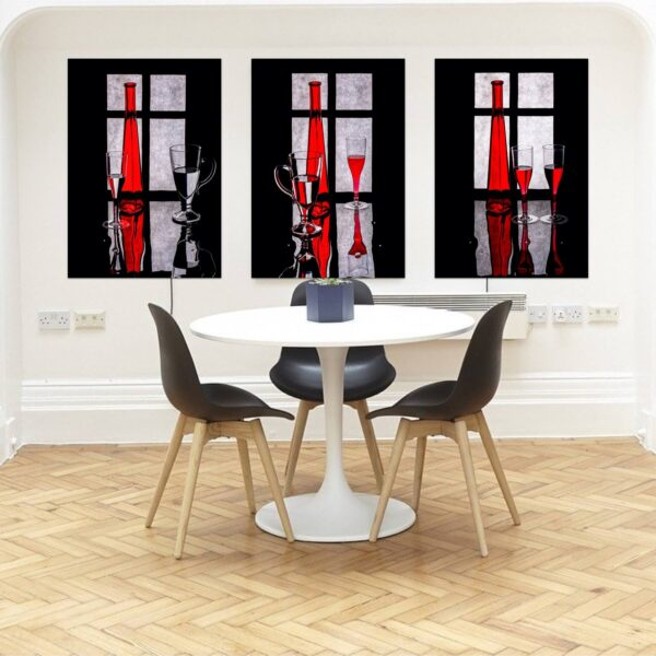 """Paper prints """"In Front of the Window"""" by Valentin Ivantsov mounted on aluminium shown in the interior. The series includes the following artworks: """"In Front of the Window #1"""", """"In Front of the Window #2"""" and """"In Front of the Window #3""""."""